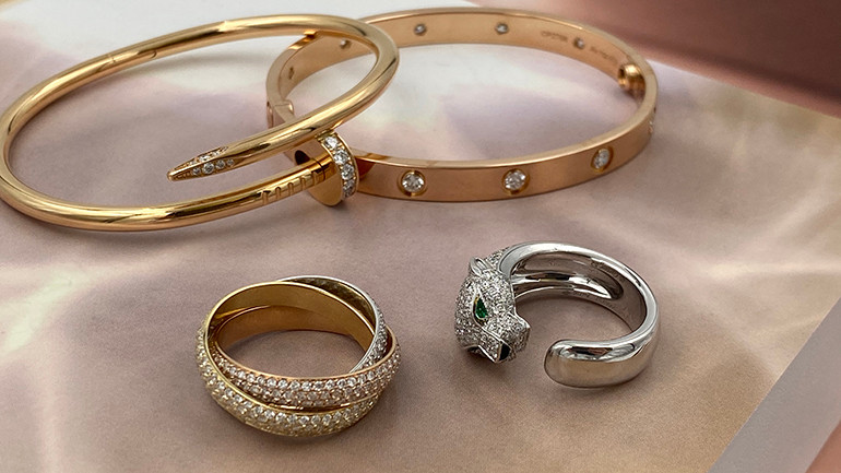 Cartier Bracelet love rose ring panthere tinity diamond